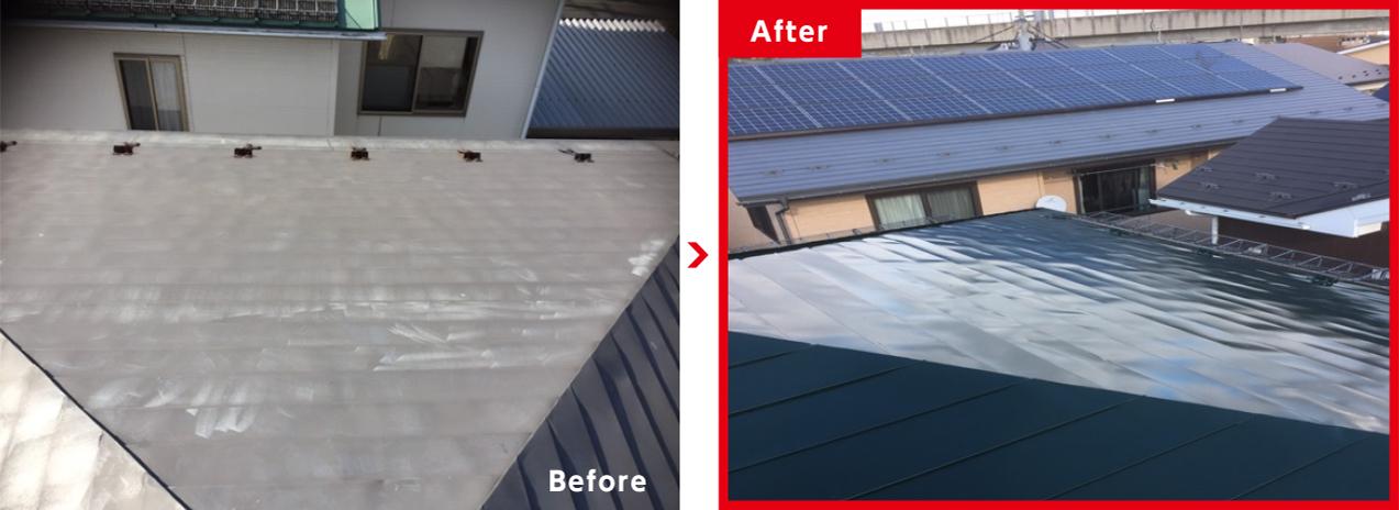 屋根塗装工事の例